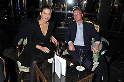Danish TV and radio host ANDREA ELISABETH RUDOLPH and SOREN JESSEN at an evening of Cabaret by Nicky Haslam held in the Beaufort Bar, The Ritz, London on 11th December 2011.