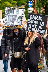 Social distancing becomes impossible at Black Lives Matter protest in the name of George Floyd held on Devonshire Green in Sheffield on Saturday 6th June 2020<br /> <br /> www.pauldaviddrabble.co.uk<br /> All Images Copyright Paul David Drabble - <br /> All rights Reserved - <br /> Moral Rights Asserted -