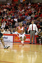 "18 January 2007: Keith ""Boo"" Richardson, watched by Porter Moser. The Shockers of Wichita State were shut off by the Redbirds by a score of 83-75 at Redbird Arena in Normal Illinois on the campus of Illinois State University."