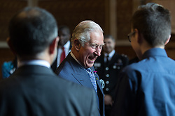 © Licensed to London News Pictures . 26/06/2017 . Manchester , UK . The Prince of Wales and the Duchess of Cornwall visit Manchester Town Hall to thank medical staff and meet community leaders and young people to discuss the impact on the community of the murderous terror attack that took place after an Ariana Grande concert at Manchester Arena on 22nd May 2017 . Photo credit : Joel Goodman/LNP