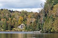 Lakeside living along the shore of Lac Hacquard in Saint-Émile-de-Suffolk, Québec, Canada.