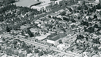 1929 Aerial of Chaplin Studios on La Brea Ave.