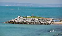 VARNA - BALCHIK - Golfbaan en resort THRACIAN CLIFFS GOLF RESORT aan de Zwarte Zee in Bulgarije. Tee in zee.  COPYRIGHT KOEN SUYK