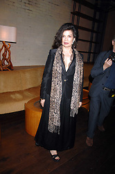 BIANCA JAGGER at a party to celebrate the launch of Cavalli Selection - the first ever wine from Casa Cavalli, held at 17 Berkeley Street, London W1 on 29th May 2008.<br /><br />NON EXCLUSIVE - WORLD RIGHTS