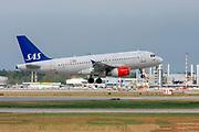 SAS Scandinavian Airlines Airbus A319-100 (OY-KBT) at Milan - Malpensa (MXP / LIMC) Italy
