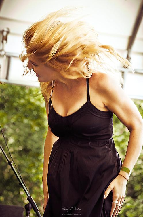 Brittany Holljes of Delta Rae performing at Appel Farm's 2013 Arts & Music Festival.