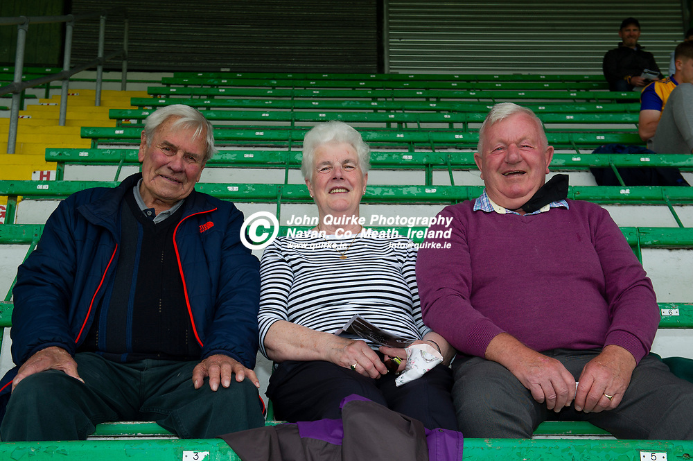 04-07-21. Meath v Longford - Leinster SFC Quarter-Final at Pairc Tailteann, Navan.<br />Jim Curtis (Left) enjoying the match with Mary and Paddy Kavanagh.<br />Photo: John Quirke / www.quirke.ie<br />©John Quirke Photography, 16 Proudstown Road, Navan. Co. Meath. (info@quirke.ie / 046-9028461 / 087-2579454).