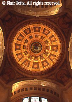 Interior dome, Bradford Co. Courthouse, Towanda, NE PA