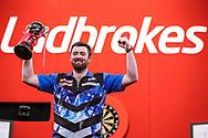 Luke Humphries, 2021, UK Open runner up during the Ladbrokes UK Open Darts 2021 at stadium:mk, Milton Keynes, England. UK on 7 March 2021.