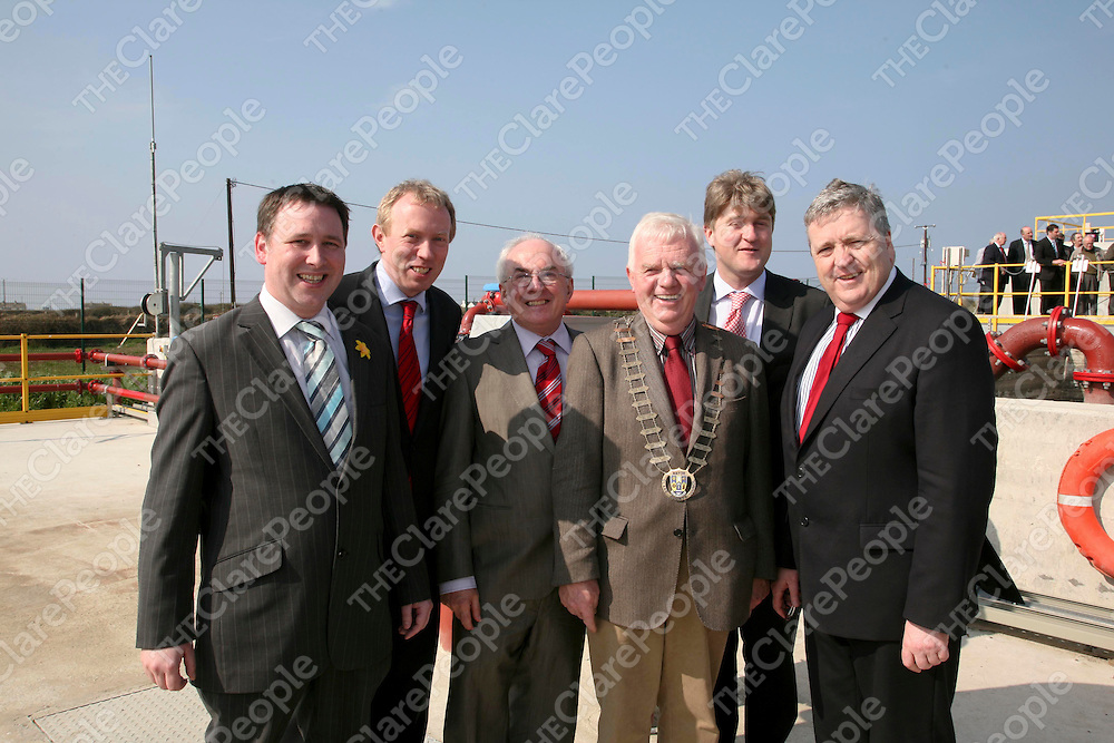 The sewage system between Mullagh & Quilty was officially opened on Friday 25th March 2011 at the quilty plant with a good crowd of people delighted with the new infrastructure.<br /> Pictured at the event were local TD's.<br /> <br /> Pic Emma Jervis / Press 22