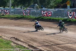 Spirit of Sturgis races at the fairgrounds during the Sturgis Black Hills Motorcycle Rally. Sturgis, SD, USA. Monday, August 5, 2019. Photography ©2019 Michael Lichter.