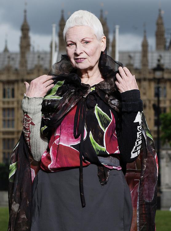 Fashion Designer Dame Vivienne Westwood Portrait on 16 June, 2014.<br /> <br /> <br /> Photos by Ki Price