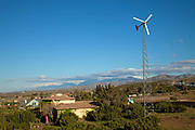Residential wind turbine, Palmdale, Los Angeles County, California, USA