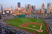 July 1, 2006, Pittsburgh, Pennsylvania, USA;  Evening view of PNC Park, and the skyline of Pittsburgh as the Pirates host the Detroit Tigers.