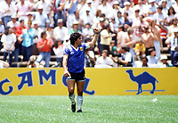 Fotball<br /> England<br /> Foto: Colorsport/Digitalsport<br /> NORWAY ONLY<br /> <br /> Diego Maradona celebrates scoring his and Argentina's 2nd goal. Argentina v England, World Cup, Azteca Stadium, Mexico, 22/06/1986