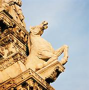 Sculptural detail, Siena, Italy.