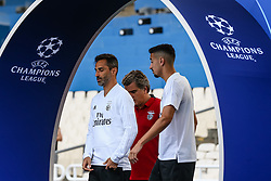 October 2, 2018 - Na - Athens, 10/01/2018 - Sport Lisboa e Benfica held the training to adapt to the pitch of the Olympic Stadium in Athens for the game of the second day of the Champions League 2018/2019 against the AEK of Athens. Jonas and André Almeida  (Credit Image: © Atlantico Press via ZUMA Wire)