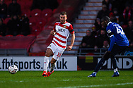 Herbie Kane of Doncaster Rovers (15) lays off the ball for Doncaster's first goal during the The FA Cup fourth round match between Doncaster Rovers and Oldham Athletic at the Keepmoat Stadium, Doncaster, England on 26 January 2019.