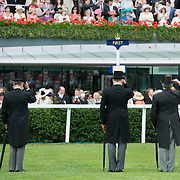 ASCOT, ENGLAND - JUNE 18:  Race Stewards salute the arrival of HM The Queen and the Royal Procession at Royal Ascot  Ladies Day at Ascot Racecourse on June 18, 2009 in Ascot, England.  (Photo by Marco Secchi/Getty Images)