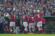 Leicester, Welford Road, Leicestershire, 30/09/2001,Llanelli 'On a drinks break'  during the,  Heineken Cup, match, Leicester Tigers vs Llanelli, Heineken Cup,<br /> [Mandatory Credit: Peter Spurrier/Intersport Images],<br /> Leicester Tigers v Llanelli Euro Cup  <br /> 29/9/01