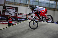 #7 (GRAF David) SUI during practice at the 2019 UCI BMX Supercross World Cup in Manchester, Great Britain