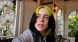 Capture - Billie Eilish is seen performing live on a smartphone as One World Together At Home is streaming live on April 19, 2020. One World Together At Home is a campaign rallying funds for the COVID-19 Solidarity Response Fund for the World Health Organization. The WHO's mission for COVID-19 is to prevent, detect, and respond to the pandemic. Photo via ABACAPRESS.COM