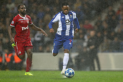 November 6, 2018 - Porto, Porto, Portugal - Porto's Portuguese forward Hernani (R) vies with Bryan Idowu defender of FC Lokomotiv Moscow (L) during the UEFA Champions League, match between FC Porto and FC Lokomotiv Moscow, at Dragao Stadium in Porto on November 6, 2018 in Porto, Portugal. (Credit Image: © Dpi/NurPhoto via ZUMA Press)