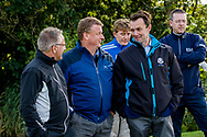 08-10-2017 - Foto van de finaledag van de Dutch Masters 2017, een European Senior Tour Event. Gespeeld op The Dutch in Spijk van 6 t/m 8 oktober.  Davis Burnside, Phil Helsby, David MacLaren en op de achtergrond Jeroen Stevens