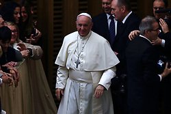 December 21, 2017 - Vatican City State (Holy See)  POPE FRANCIS during the audience for the vatican workers  at the Vatican  (Credit Image: © Evandro Inetti via ZUMA Wire)