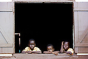Young people at their home in Accra, Ghana