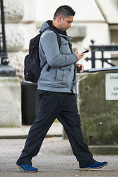 Bernard Rebelo, 30, leaves Innner London Crown Court where he is facing manslaughter charges  having allegedly sold via his website 'diet pills' containing fat burning chemical dinithrophenol (DNP) to 21 year-old university student Eloise Parry who died after taking the toxic pills. London, May 14 2018.