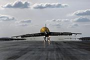 B-25H with landing drag chute