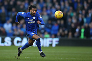 Armand Traore of Cardiff city in action . EFL Skybet championship match, Cardiff city v Middlesbrough at the Cardiff city Stadium in Cardiff, South Wales on Saturday 17th February 2018.<br /> pic by Andrew Orchard, Andrew Orchard sports photography.