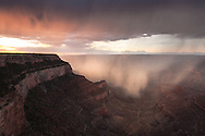 Monsoon storm, Shoshone Point, Grand Canyon, AZ