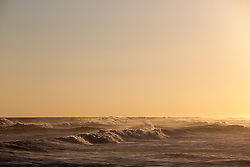 sunlit ocean waves in Montauk, NY