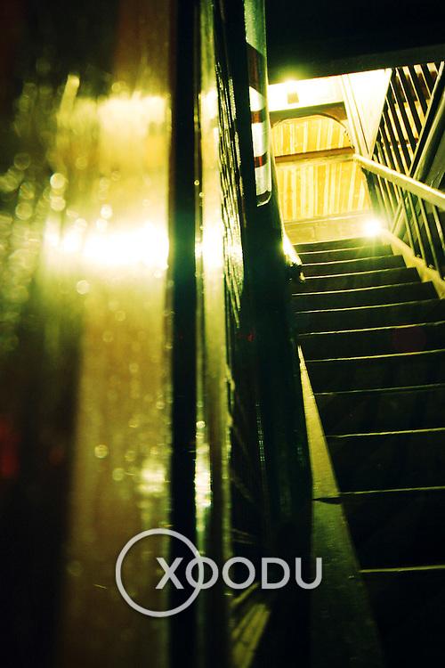 Night staircase, Baoguo Si, China (May 2004)