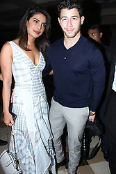 Priyanka Chopra and Nick Jonas seen out on dinner date at JW Marriott, Mumbai. 17 Aug 2018 Pictured: Priyanka Chopra and Nick Jonas. Photo credit: Newslions Media / MEGA TheMegaAgency.com +1 888 505 6342