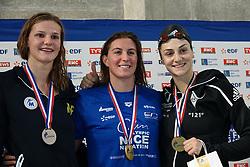 November 14, 2018 - Montpellier, France - wattel marie, charlotte bonnet (championne france 100 Nage Libre Dames ), .GASTALDELLO Beryl (Credit Image: © Panoramic via ZUMA Press)