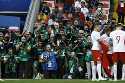 June 19, 2018 - Moscow, Russia - Photographers during the 2018 FIFA World Cup Russia group H match between Poland and Senegal at Spartak Stadium on June 19, 2018 in Moscow, Russia. (Credit Image: © Mehdi Taamallah/NurPhoto via ZUMA Press)