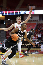 07 January 2018:  J.T. Miller slips past Isaac Gassman during a College mens basketball game between the Missouri State Bears and Illinois State Redbirds in Redbird Arena, Normal IL