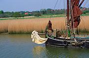 AREJPB Sailing barge Cygnet River Alde Snape Suffolk England