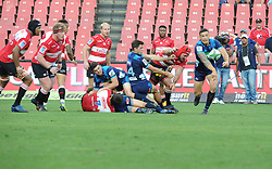 Sonny Bill Williams passes throws an inside pass. Lions vs Blues during a Super Rugby match at the Emirates Airlines Park Stadium, Ellis Park, Johannesburg, South Africa. Picture: Karen Sandison/African News Agency (ANA)