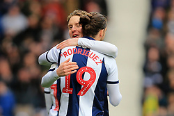 March 9, 2019 - West Bromwich, England, United Kingdom - Stefan Johansen of West Bromwich Albion celebrates scoring his sides first goal with Jay Rodriguez of West Bromwich Albion during the Sky Bet Championship match between West Bromwich Albion and Ipswich Town at The Hawthorns, West Bromwich on Saturday 9th March 2019. (Credit Image: © Leila Coker/NurPhoto via ZUMA Press)