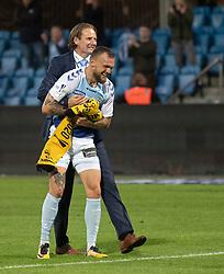Pierre Kanstrup (SønderjyskE) jubler efter finalen i Sydbank Pokalen mellem AaB og SønderjyskE den 1. juli 2020 i Blue Water Arena, Esbjerg (Foto Claus Birch).
