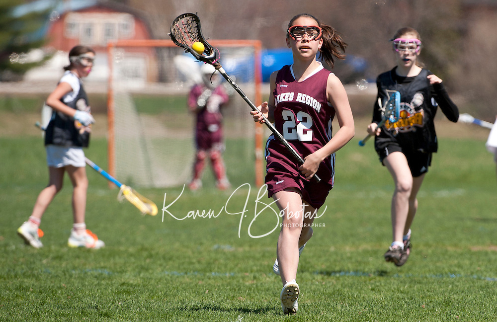 Lakes Region Lacrosse U13 girls versus Concord May 1, 2011.
