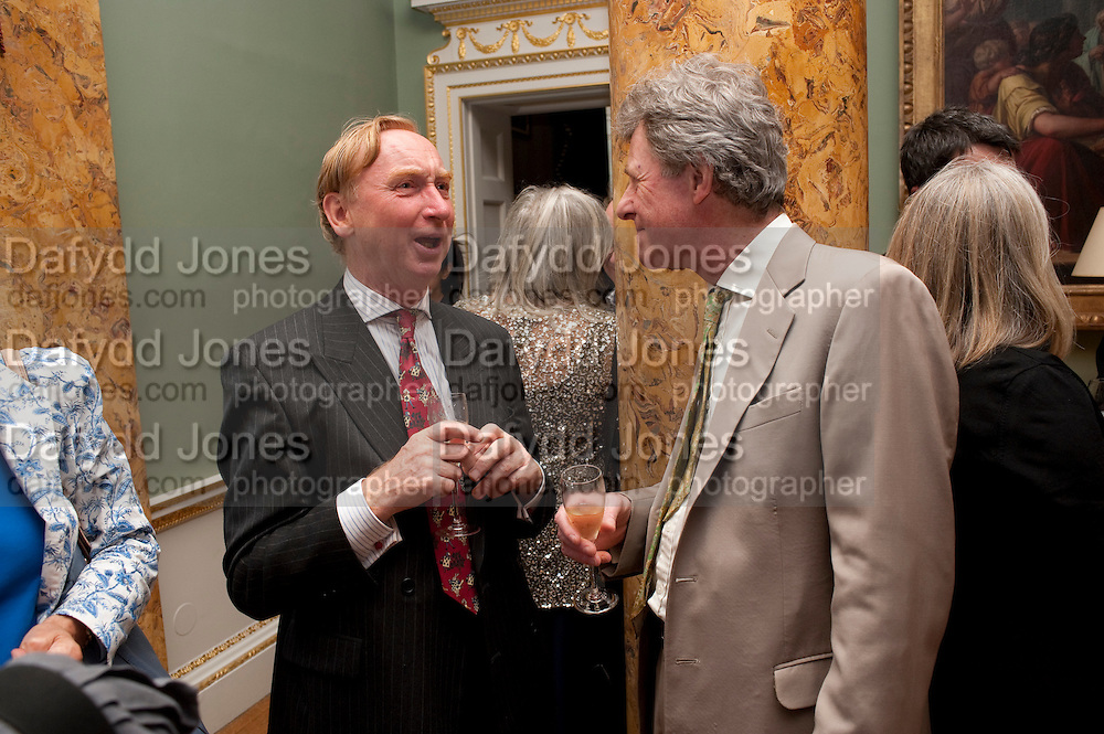 A.N.WILSON, David Campbell and Knopf host the 20th Anniversary of the revival of Everyman's Library. Spencer House. St. James's Place. London. 7 July 2011. <br /> <br />  , -DO NOT ARCHIVE-© Copyright Photograph by Dafydd Jones. 248 Clapham Rd. London SW9 0PZ. Tel 0207 820 0771. www.dafjones.com.