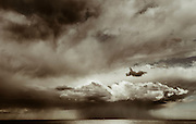 Storm front, Merewether Beach, East Coast Australia, June 28, 2014
