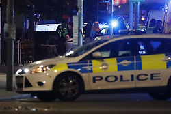 © Licensed to London News Pictures. 03/06/2017. London, UK. Emergency services are seen on London Bridge after reports of an incident involving a vehicle and pedestrians.  Reports are saying a white transit van may have deliberately run down people crossing the bridge. Photo credit: Tolga Akmen/LNP