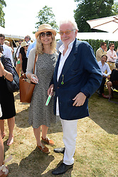 MARYAM D'ABO  and HUGH HUDSON at the Cartier 'Style et Luxe' part of the Goodwood Festival of Speed, Goodwood House, West Sussex on 14th July 2013.