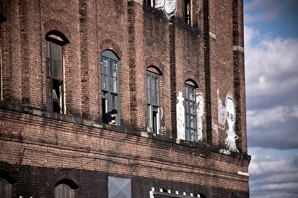 The wall of a building in Williamsburg, Brooklyn, New york, 2009.